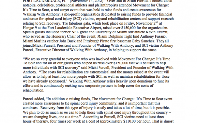 Movement for Change Raised Over $150,000